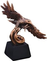 Soaring Bronze<BR> Eagle Trophy<BR> 12.5 Inches