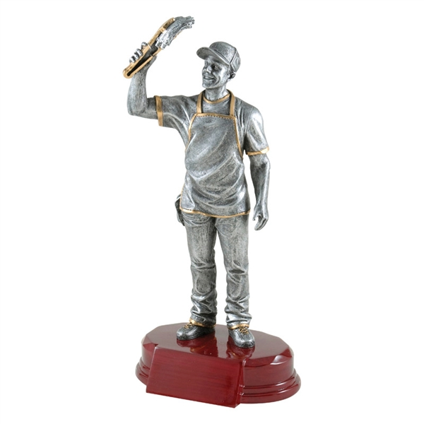 BBQ Chef Trophy<BR> 7.25 & 9.25 Inches