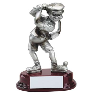 Premium Pewter<BR> Comic Golfer Trophy<BR> 5.75 Inches