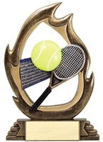 Flame<BR> Tennis Trophy<BR> 7.25 Inches