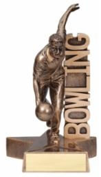 Billboard<BR> Male Bowling Trophy<BR> 6.5 & 8.5 Inches