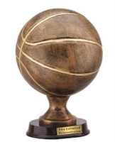 Premium Bronze<BR> Basketball Trophy<BR> 12 Inches