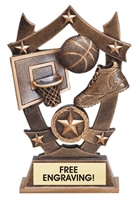 Sport Star<BR> Basketball Trophy<BR> 6.25 Inches