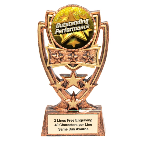 4 Star<BR> Outstanding Performance Trophy<BR> 6 Inches