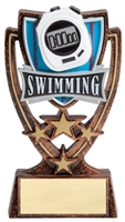 4 Star<BR> Swimming Trophy<BR> 6 Inches