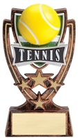 4 Star<BR> Tennis Trophy<BR> 6 Inches