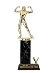 Single Column - 1 Trim<BR> F Bodybuilding Trophy<BR> 10-12 Inches<BR> 10 Colors