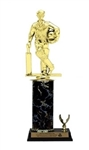 Single Column - 1 Trim<BR> Standing Batsman Trophy<BR> 10-12 Inches<BR> 10 Colors