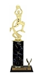 Single Column - 1 Trim<BR> Female Motion Basketball Trophy<BR> 10-12 Inches<BR> 10 Colors