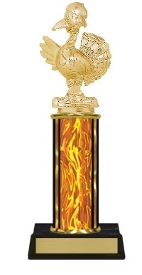 Single Column<BR> Turkey Trophy<BR> 10-12 Inches<BR> 9 Colors