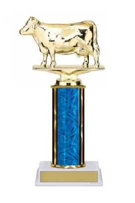 Single Column<BR> Dairy Cow Trophy<BR> 10-12 Inches<BR> 10 Colors