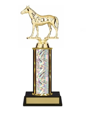 Single Column<BR> Thoroughbred Trophy<BR> 10-12 Inches<BR> 9 Colors
