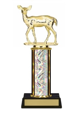 Single Column<BR> Doe Deer Trophy<BR> 10-12 Inches<BR> 10 Colors