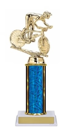 Single Column<BR> Mountain Bike Trophy<BR> 10-12 Inches<BR> 10 Colors