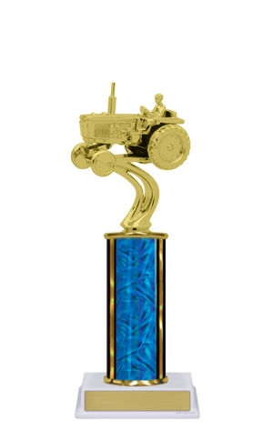 Single Column<BR> Tractor Trophy<BR> 10-12 Inches<BR> 10 Colors