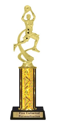 Single Column<BR> F Motion Basketball Trophy<BR> 10-12 Inches<BR> 10 Colors