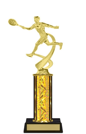 Single Column<BR> M Motion Tennis Trophy<BR> 10-12 Inches<BR> 10 Colors