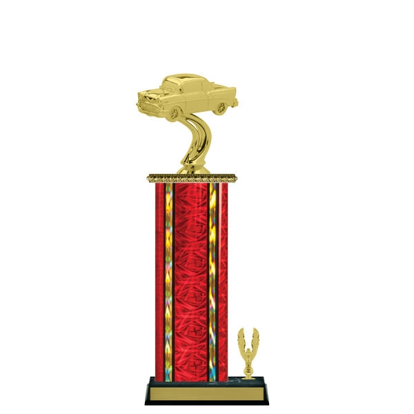 Wide Column with Trim<BR> 57 Chevy Trophy<BR> 12-14 Inches<BR> 10 Colors