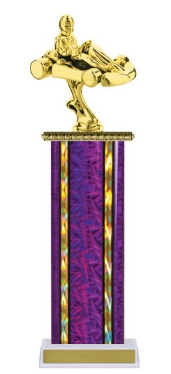 Wide Column<BR> Go Kart Trophy<BR> 12-14 Inches<BR> 10 Colors